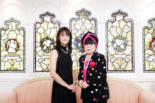 桂由美先生とのツーショット写真